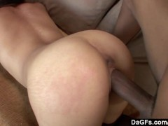 Tight asian pussy destroyed by big black cock