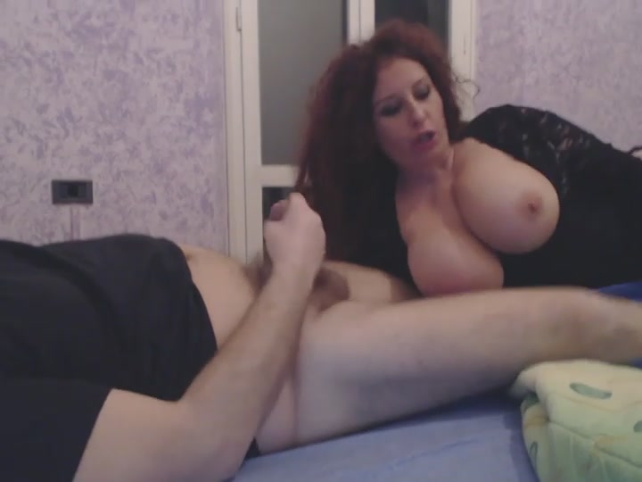 Slutty mature woman sucks a sm