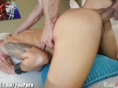 Picture EvilAngel Blonde MILF Titty Fuck and Hard Po...