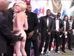 Miley May Turns An Interracial Blowbang Into A Fuck Fest