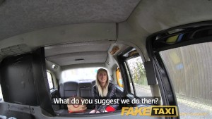 FakeTaxi Passenger suggests blowjob to pay for taxi fare