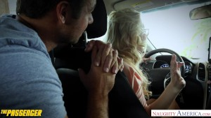 Small titted Samantha Rone fuck a passenger