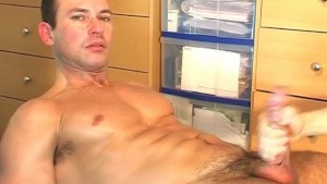 The swim teacher gets wanked in a porn video by a client!