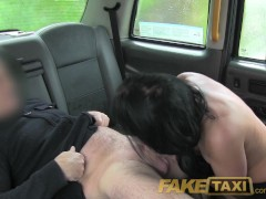 FakeTaxi Local escort fucks taxi man on her way to a client