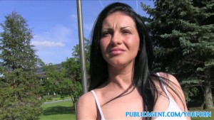 PublicAgent Sexy romanian in tight shorts fucked in a car