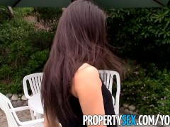 PropertySex - Asian real estate agent homemade outdoor sex video