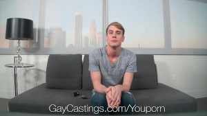 GayCastings - Hot blond college guy gets fucked by creepy casting guy