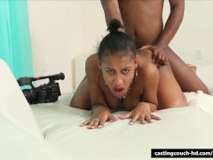 Ebony teen gets assfucked at rap audition