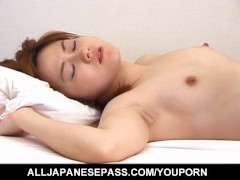 Mana Anzai has toes licked and sucks dick before is well screwed