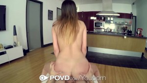 POVD - Guy watches Brooke Myers put a dildo in her pussy