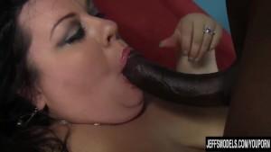 Fatty Desiree Devine takes a black cock
