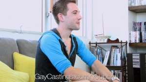 GayCastings - Creepy Casting Guy fucks Dylan Knight on first porn shoot