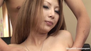 Japanese babe showered with cum