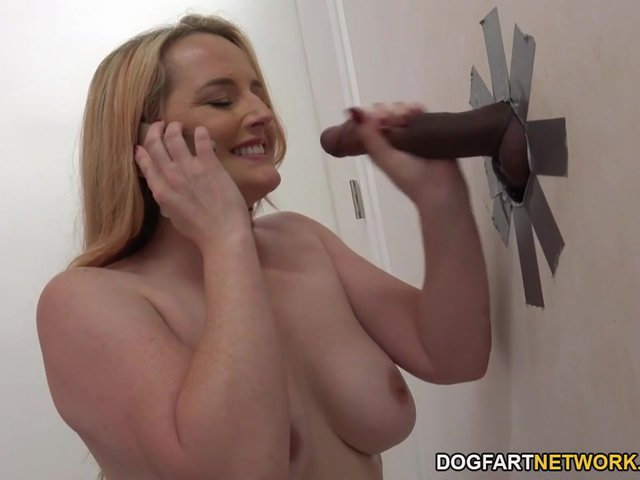 glory hole cock mature breasts