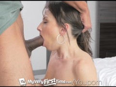 MyVeryFirstTime - Awkward Kendra Khaleesi shoots her first ever porn scene