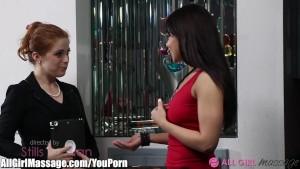 AllGirlMassage Latina and Redhead Pussy Eating