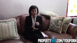 PropertySex - Cute petite real estate agent has sex with client