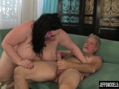 Picture Horny BBW Eliza Allure gets her pussy pounde