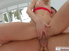 Picture Allinternal blonde rides dick and is filled...