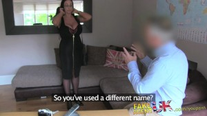 FakeAgentUK British chick with massive tits gives agent a shot at anal