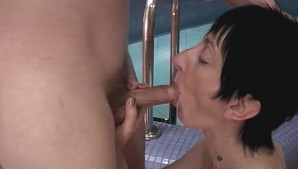 Mature Lady Fucks Young Cock At A Spa