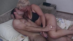 Horny Blonde Stepmom Taking Stepson's Cock For Breakfast