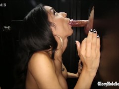 Picture Glory hole Secrets latina spinner swallows s...