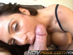Ariella Ferrara Sucking White Stiff Meat POV