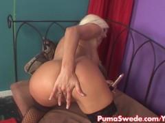 Euro Blonde Puma Swede Loves her Vibrators!