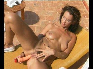Brunette Milf Outdoors video: Masturbation Outside - Julia Reaves