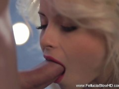 Blonde Babe Top BlowJob Performance