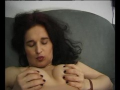 Picture Mature brunette playing with herself - Julia...