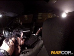 Picture Fake Cop Cheeky young lass likes daring outd...
