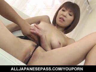 Cock Sucking Cunt Licking Dildo Insertion video: Jun Kusanagi Asian milf gets horny pussy masturbated in gangbang style