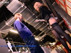 Jeny Smith interviews a guys at museum of erotic