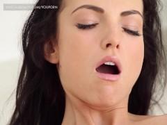 Gorgeous student masturbating