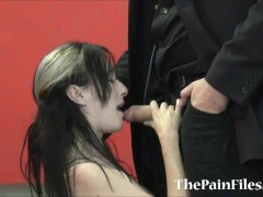 Kinky spanking and brutal blowjob of dominated slavesex sub Fae