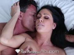 PureMature - Sexy mature Jessica Jaymes has her pierced pussy fucked