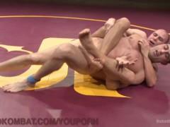 Picture Naked Hunks Wrestle For Dominance