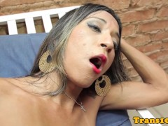 Picture Solo tranny dildofucking her ass and wanking