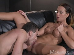 Picture MOM Sexy horny and tanned MILF rides young s...