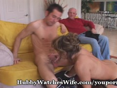 Hubby Ecstatic Watching Wife