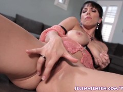 Picture Jelena Jensen Cums With Glass Dildo