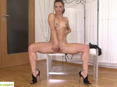 Stunning MILF Victoria Zeal Strips Naked