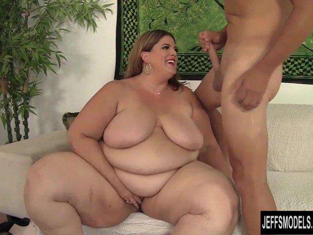 fat BBW Erin Green riding a stiff cock