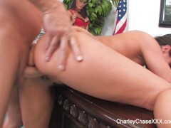 Picture Charley Chase with Mark Wood on Desk
