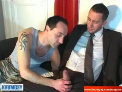 Picture Full video: An innocent worker serviced his...