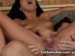 Picture Carmen eats ass crack then gets fucked in he...
