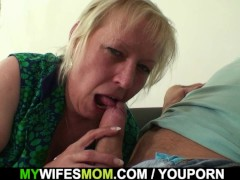 Picture Horny girlfriends old mom seduces me