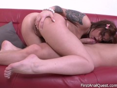 Picture First time anal sex for the beautiful Rebecc...